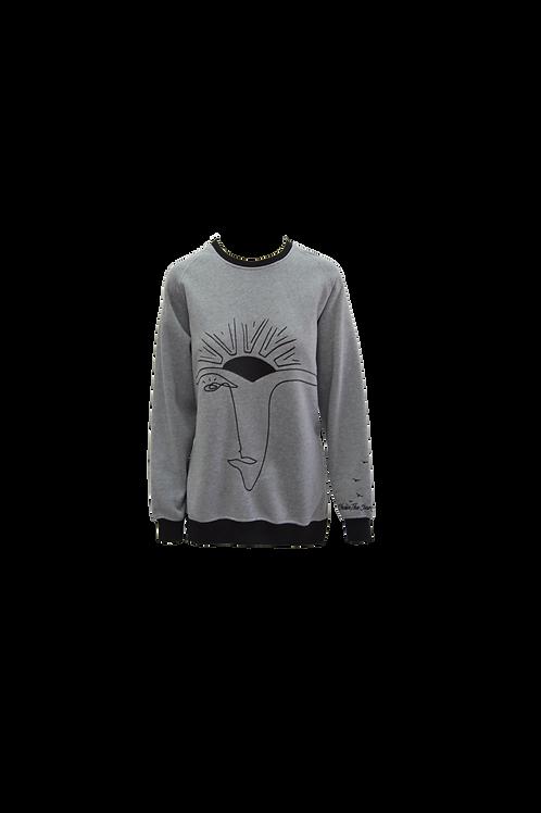 Art-meets-Activewear Oversized Sweatshirt