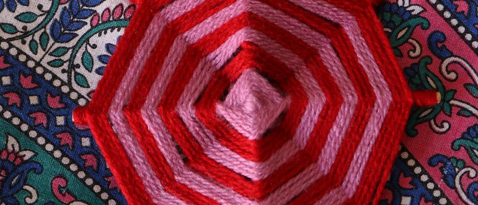 Mandalas de lã (de 15 a 20 cm)