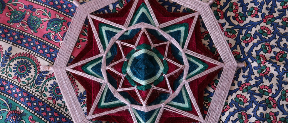 Mandalas de lã (aprox 28 cm)