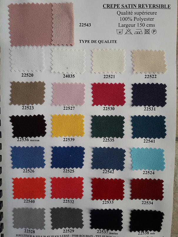 MINA.T Couture vous propose cette belle gamme de crepe satin pour des créations de jupe, robe ou top à vos mesures ! à commander sur www.minatcouture.com