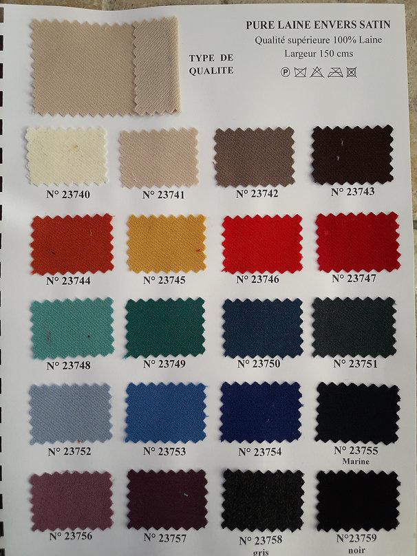 MINA.T Couture vous propose cette belle gamme de Pure laine envers satin pour des créations de jupe, robe ou top à vos mesures ! à commander sur www.minatcouture.com