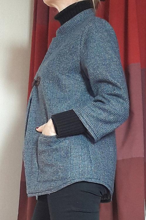 veste COUNTRY laine bleue