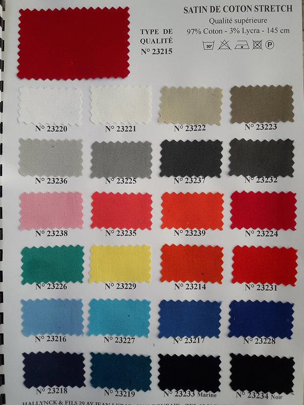 MINA.T Couture vous propose cette gamme de coton strech pour des créations de jupe, robe ou top à vos mesures ! à commander sur www.minatcouture.com