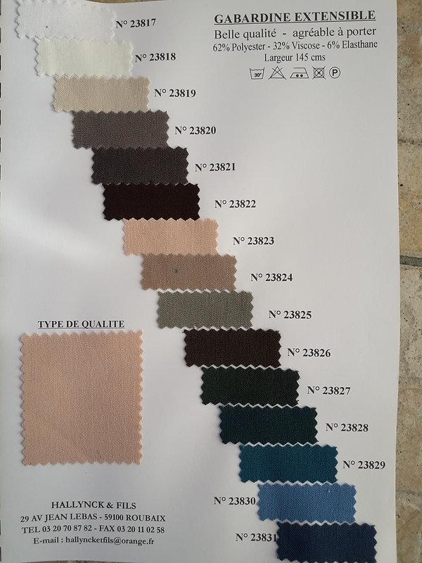 MINA.T Couture vous propose cette belle gamme de Gabardine extensible pour des créations de jupe, robe ou top à vos mesures ! à commander sur www.minatcouture.com