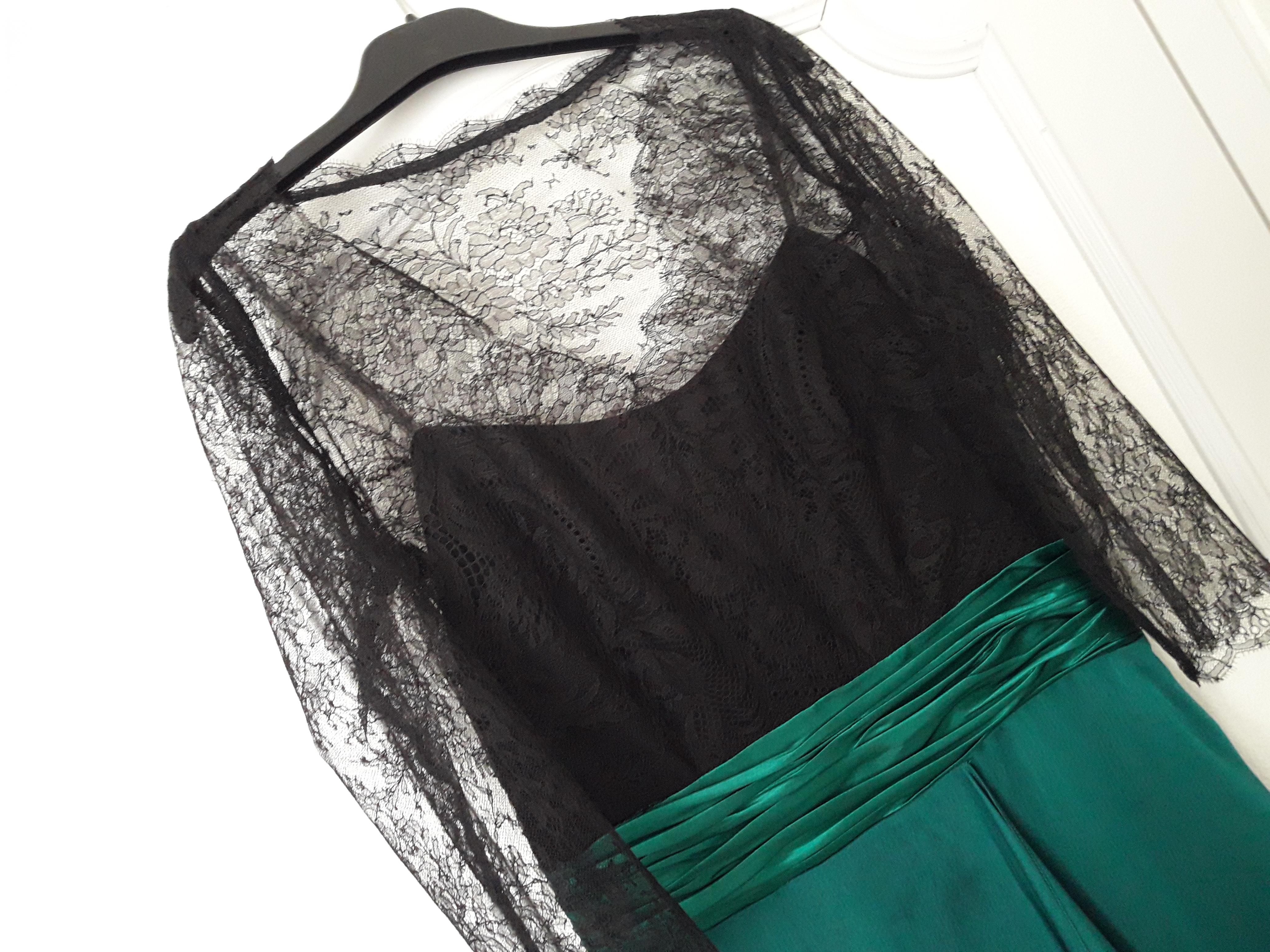 robe dentelle et soie