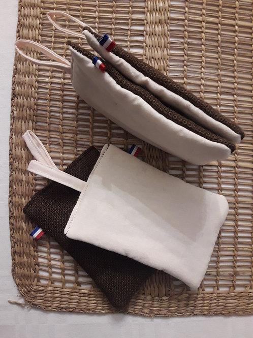 3 éponges textiles