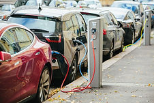 Electric cars being charged - CGC Projec