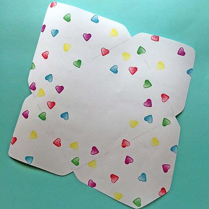 Covid-19 Charitable Digital Stationery Envelope: Hearts