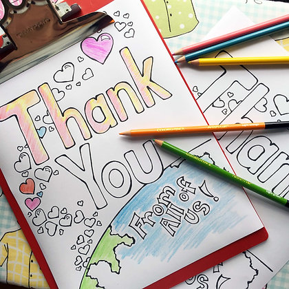 Covid-19 Charitable Coloring Page: Thank You