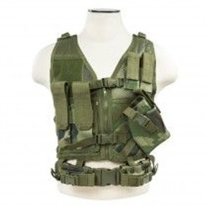 VISM® by NcSTAR® TACTICAL VEST/WOODLAND CAMO XS-S