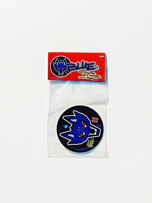 Wolf Spirit, BLUE. Sticker