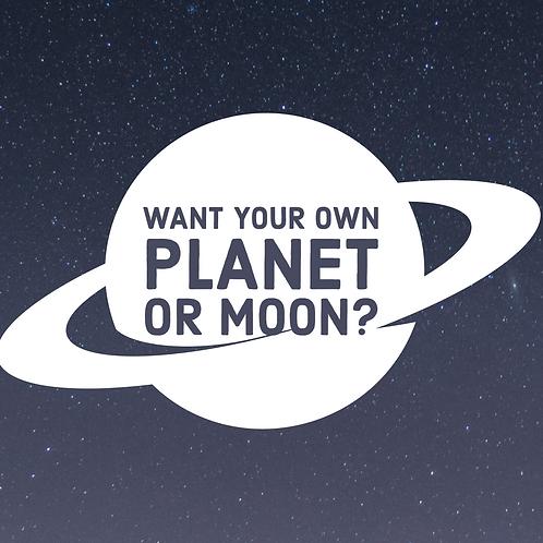 Customized Planet, Moon, or Sun