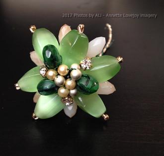 Green Beaded Flower