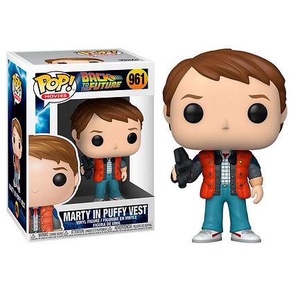 Regreso al Futuro POP! Vinyl Figura Marty in Puffy Vest 9 cm
