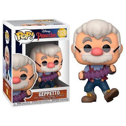 Pinocchio 80th Anniversary POP! Disney Vinyl Figura Geppetto W/Accrdion 9 cm