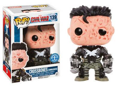 Captain America Civil War POP! Vinyl Cabezón Crossbones (Unmasked) 9 cm