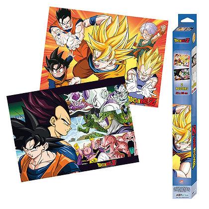 Set 2 Posters Dragon Ball Saiyans (52X38)