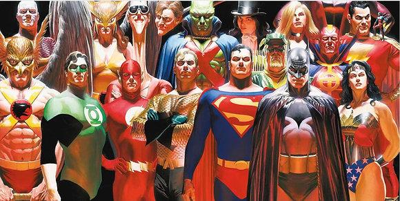 Poster de vidrio Liga de la Justicia 60x30. Universo DC