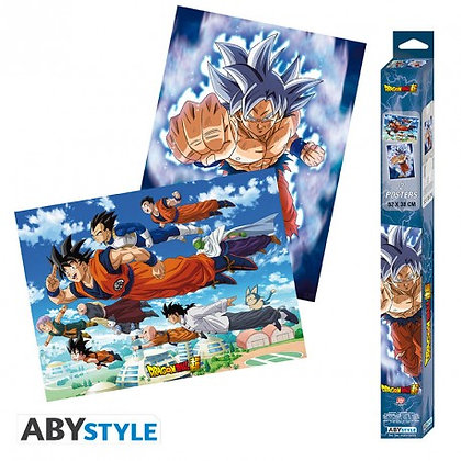 Set 2 Posters Dragon Ball Super Goku & Amigos (52X38)