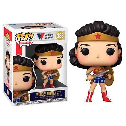 Wonder Woman 80th Anniversary Figura POP! Heroes Vinyl Classic WW w/Shield & Swo