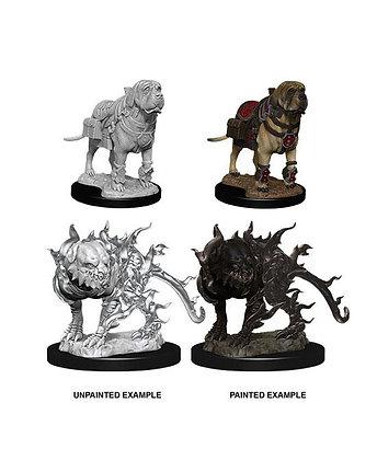D&D Nolzur's Marvelous Miniatures Miniaturas sin pintar Mastif & Shadow Mastif