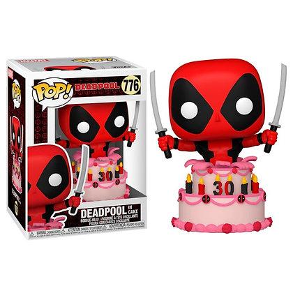 Marvel Deadpool 30th Anniversary Figura POP! Vinyl Deadpool in Cake 9 cm