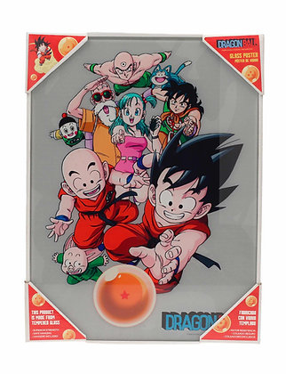 Poster de vidrio Personajes 30x40. Dragon Ball