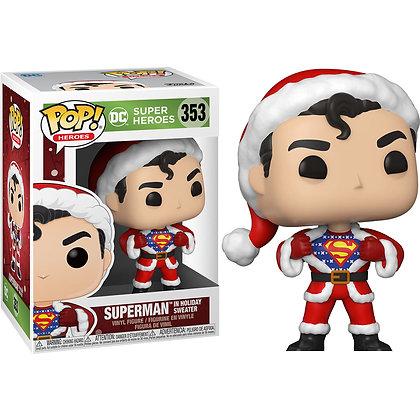 DC Comics Figura POP! Heroes Vinyl DC Holiday: Superman in Holiday Sweater 9 cm