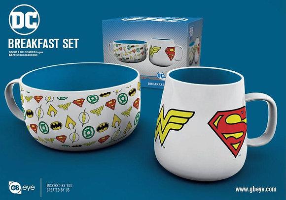 DC Comics Pack Desayuno Logos