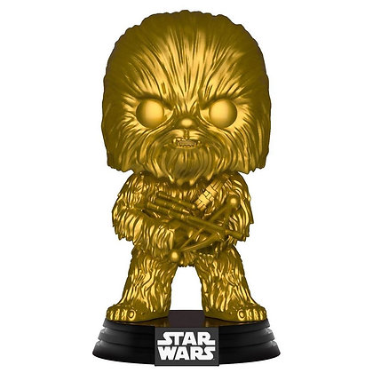 Funko POP! Star Wars Chewbacca Exclusivo Vinilo Bobble Head Oro Metálico