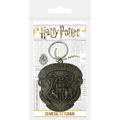Harry Potter llavero metálico Hogwarts
