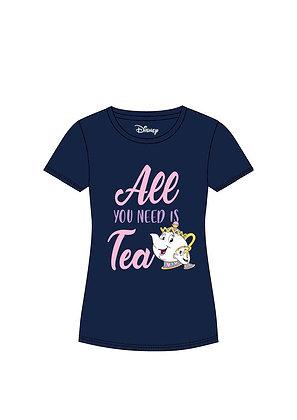 La bella y la bestia Camiseta Chica All You Need Is Tea