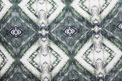 "woodblock I - emerald (8"" x 8"" Sample Swatch)"