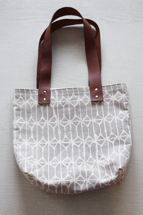 Hand-Dyed Canvas Market Tote