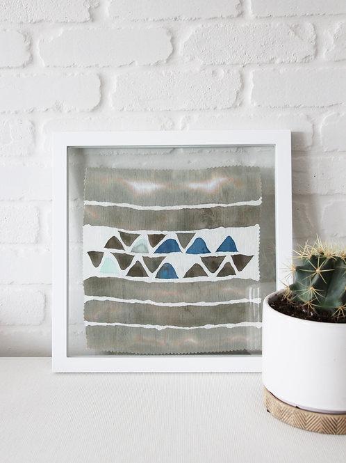 Framed Textile - Silk Batik