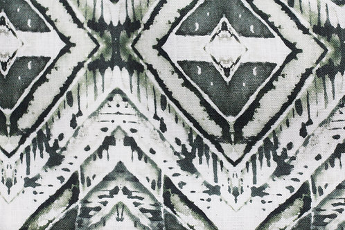 "woodblock II - emerald (8"" x 8"" Sample Swatch)"
