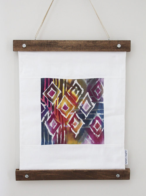 Wall Hanging - Linen + Silk Batik