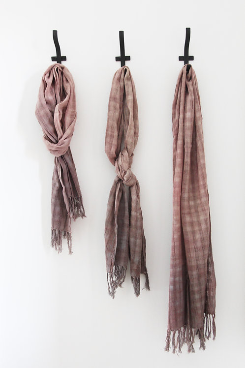 Hand-Dyed Woven Cotton Scarf