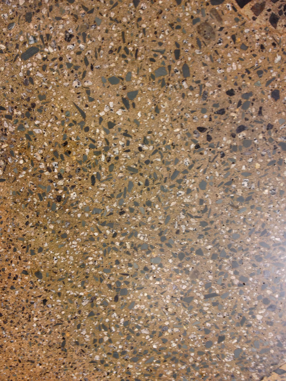 Deep Grind polished concrete with exposed aggregate