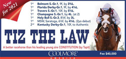 Coolmore Ad for Tiz the Law