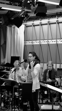 rehearsing with the WDR Bigband