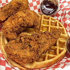 The Damn Waffle & 3 Tenders