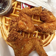 The Damn Chicken (3 Wings) & Waffle