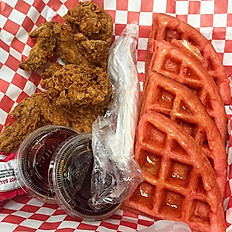 Strawberry Chicken & Waffles (2 wings)