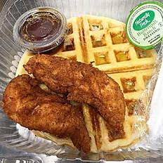 The Damn Waffle & 2 Tenders