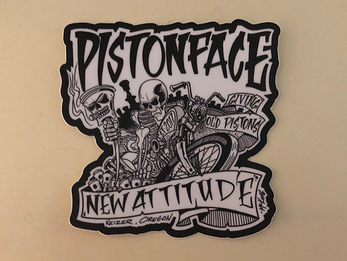 Sticker/Decal (Giving Old Pistons New Attitude)