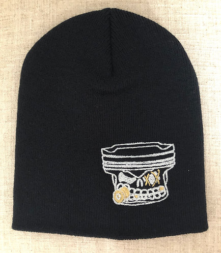 PistonFace Beanie (Black) Embroidered Logo