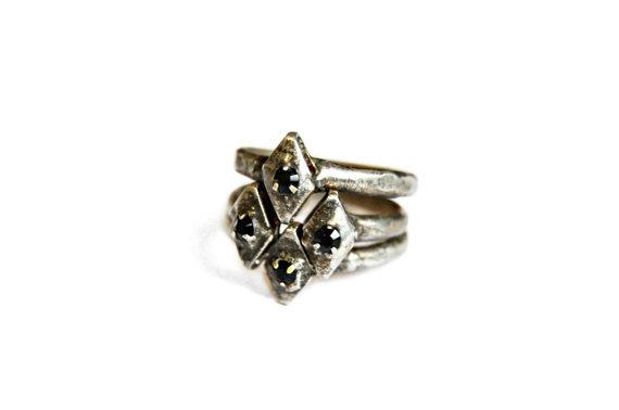 Dahlia Triple Diamond Ring Set