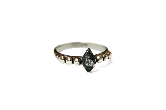 North Star Crystal Diamond Ring