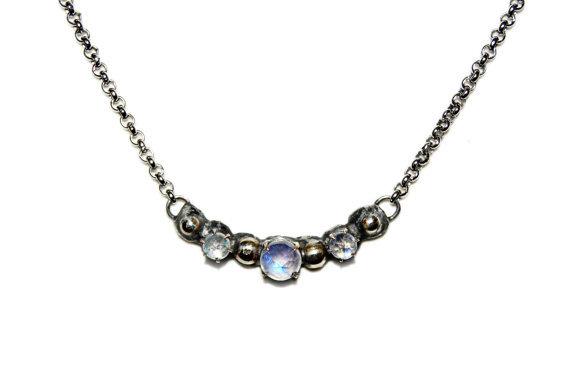 Milky Way Moonstone Necklace